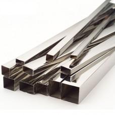 Труба квадратная 15х15х1,5 зеркальная AISI 304, L=6 000 мм
